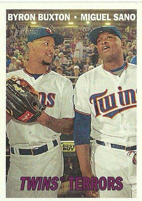 2016 Topps Heritage Byron Buxton, Miguel Sano No. 334