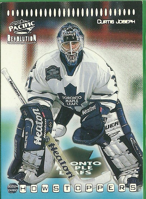 1999 Pacific Revolution Showstoppers Curtis Joseph No. 33