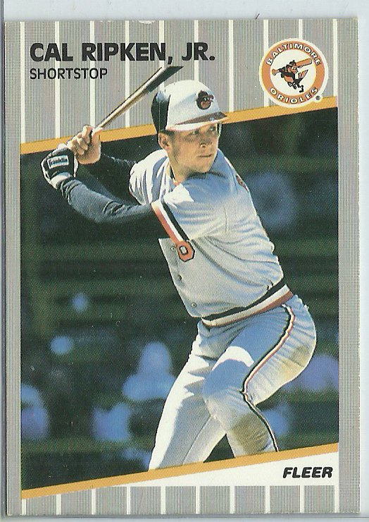 1989 Fleer Cal Ripken Jr. No. 617