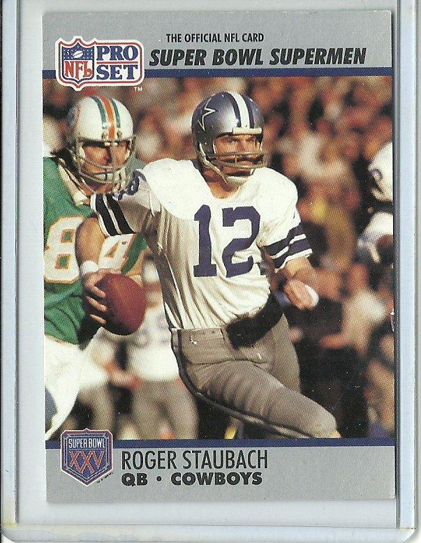 1990 NFL Pro Set All-Time Team Roger Staubach No. 37