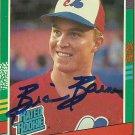 1991 Donruss Brian Barnes No. 415 Autograph