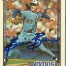 1991 Topps Brian Barnes No. 211 RC Autograph