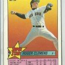1989 Topps Super Star Roger Clemens No. 25 Mini