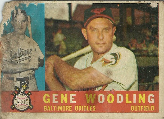 1960 Topps Gene Woodling No. 190 (Damaged)