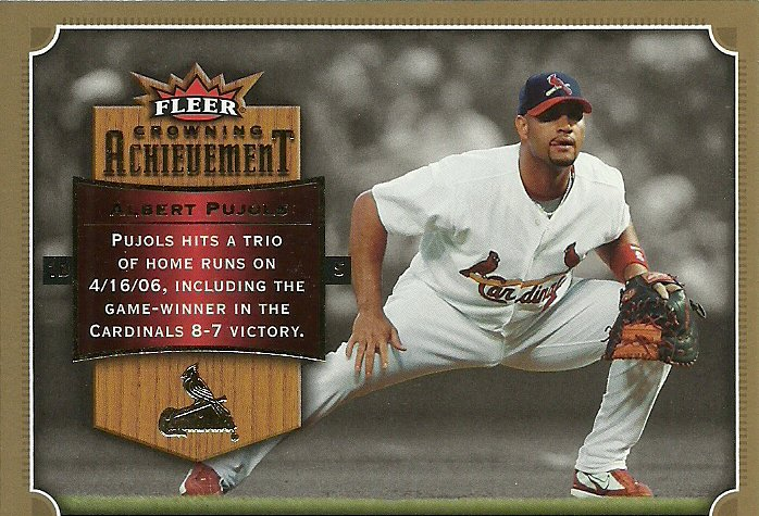 2007 Fleer Crowning Achievement Albert Pujols No. CA-AP