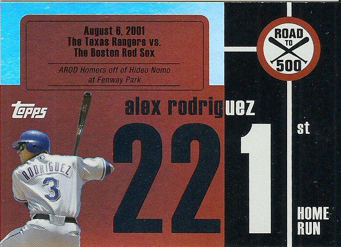 2007 Topps Road To 500 Alex Rodriguez No. ARHR221