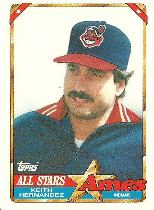 1990 Topps Ames Keith Hernandez No. 8