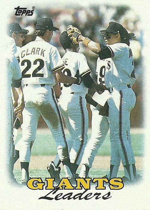 1988 Topps San Francisco Giants No. 261