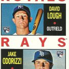 2013 Topps Heritage David Lough, Jake Odorizzi No. 408 RC
