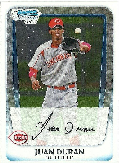 2011 Bowman Chrome Prospects Juan Duran No. BCP196 RC