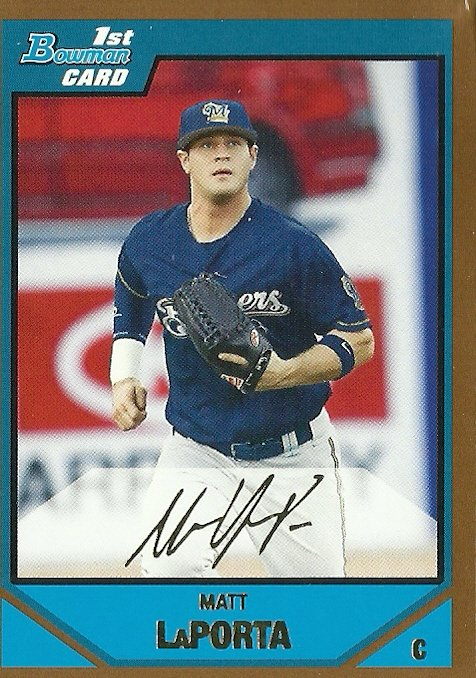 2007 Bowman Draft Pick Prospects Gold Matt LaPorta No. BDPP64 RC