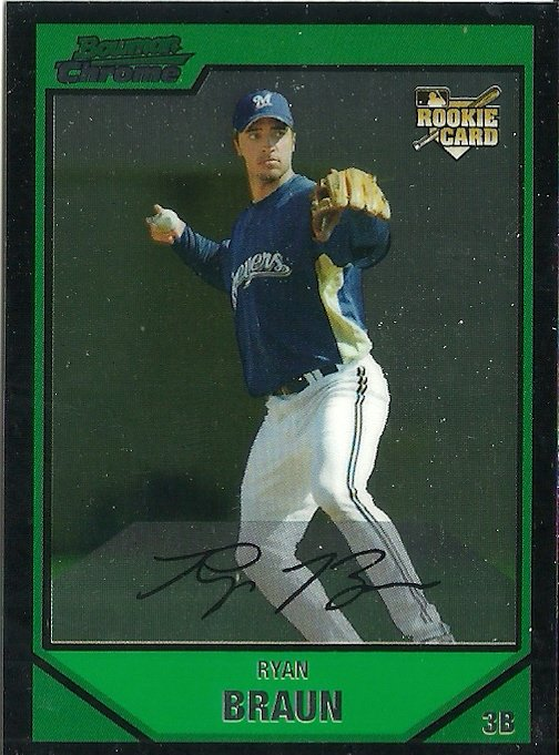 2007 Bowman Draft Picks Ryan Braun No. BDP50 RC