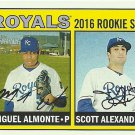 2016 Topps Heritage Miguel Almonte, Scott Alexander No. 167 RC
