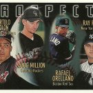 1996 Topps Bartolo Colon, Doug Million, Rafael Orellano, Ray Ricken No. 428 RC