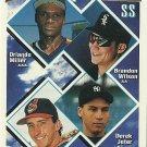 1994 Topps Derek Jeter, Mike Neal, Brandon Wilson, Orlando Miller No. 158 RC