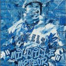 2017 Topps Fire Monikers Mike Trout No. M-34 Blue Chip Parallel