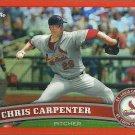 2011 Topps Chrome Chris Carpenter No. 121 Orange Parallel
