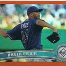 2011 Topps Chrome David Price No. 44 Orange Parallel