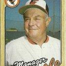 1987 Topps Earl Weaver No. 568