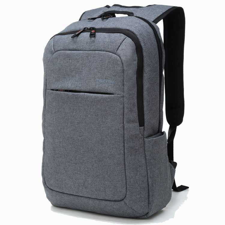 Slim Business Laptop Backpack Anti Thief Tear / Water Resistant Travel Bag
