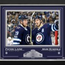 Patrick Laine & Mark Scheifele Framed Photo Ltd Ed 55/199 - Winnipeg Jets, 16x20