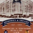 Maple Leafs Gardens Final Ticket - Bobby Hull & Johnny Bower - Toronto, Chicago