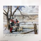 Let's Ask Lithograph, Signed: Johnny Bower & Yvan Cournoyer