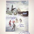 Signed Johnny Bower, Guy Lafleur, Bobby Hull, Litho - Montreal, Chicago, Toronto