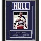 Bobby Hull Winnipeg Jets Collectible Namebar, Ltd Ed 7/99 - Career Stats