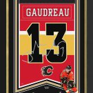 Johnny Gaudreau  Arena Banner Ltd Ed 13/113 - Calgary Flames, Facsimile Signed