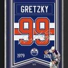 Wayne Gretzky Arena Banner Ltd Ed 88/99 - Edmonton Oilers, Facsimile Signed