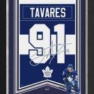 John Tavares Framed Arena Banner Ltd Ed - TO Maple Leafs, Facsimile Signed