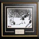 "Bobby Orr """"The Goal"""" Framed with Cut Signature, Ltd Ed /444 - Boston Bruins"