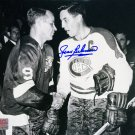 Autographed Jean Beliveau, Gordie Howe 8x10 Photo - Montreal Canadiens
