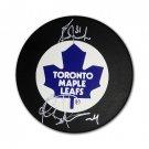 Grant Fuhr, Felix Potvin Signed Puck - Toronto Maple Leafs