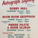Bobby Hull, Boom Boom Geofferion Autographed Vintage Sign