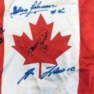 Flag Signed, Lafleur, Richard, Beliveau, Cournoyer - Canadian, MTL Canadiens