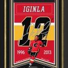 Jarome Iginla Framed Arena Banner #112/112 - Calgary Flames, Facsimile Signed