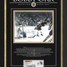 "Bobby Orr """"The Goal"""" Signed 11x14 Limited Edition 4/44 - Boston Bruins - Framed"