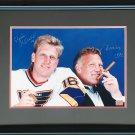 Bobby Hull, Brett Hull Signed 8x10 Photo - Chicago Blackhawks, St. Louis Blues