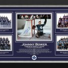 Johnny Bower Stanley Cup 1962, 63, 64 & 67, Ltd Ed 67/67 - Toronto Maple Leafs