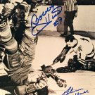 Autographed Bobby Hull, Glenn Hall 8x10 Photo - Chicago Blackhawks