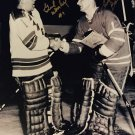 Signed Johnny Bower and Gump Worsley Photo - TO Maple Leafs, MTL Canadiens