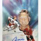 Autographed Bobby Hull 8x10 Painting Photo - Winnipeg Jets, Chicago Blackhawks