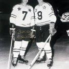 Bobby Hull & Gordie Howe 8x10 Ltd Ed 9/9, Signed by Hull - Blackhawks, Red Wings