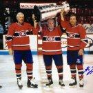 Maurice Richard, Jean Beliveau & Guy Lafleur Signed 8x10 - Montreal Canadiens