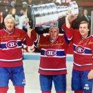 Autographed Richard, Beliveau, Lafleur 8x10 Photo - Montreal Canadiens
