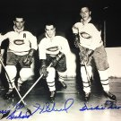 Signed 8x10, Maurice Richard, Henri Richard, Dickie Moore - Photo, MTL Canadiens