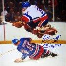 Billy Smith Jump Save Signed 8x10 Photo, New York Islanders
