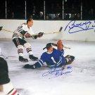 Signed Johnny Bower, Bobby Hull Photo - Toronto Maple Leafs, Chicago Blackhawks